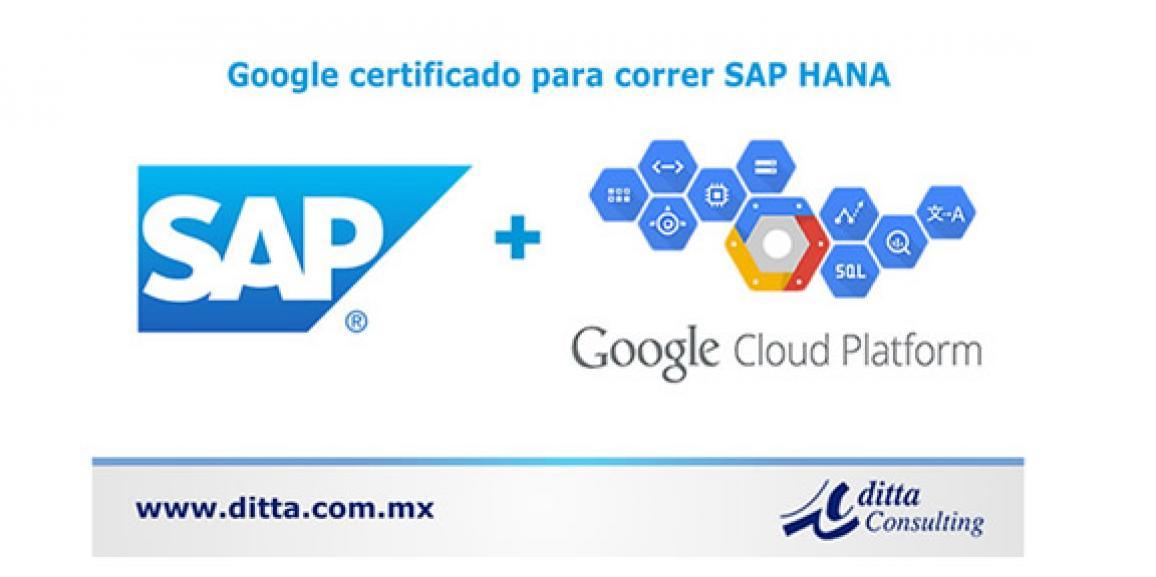 Google Cloud Platform ahora Certificado para correr SAP HANA