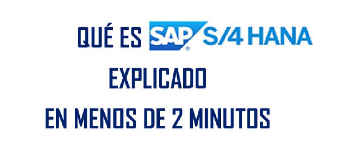 Qué es SAP HANA … Explicado en menos de 2 minutos